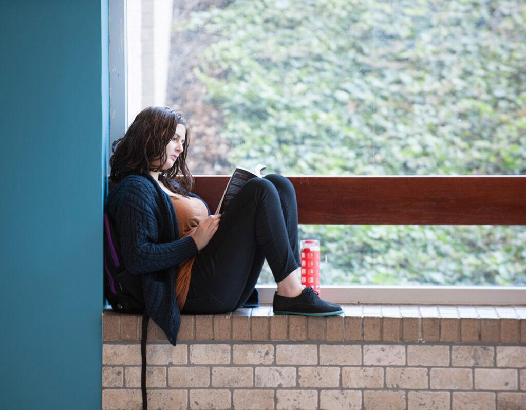 Student at window